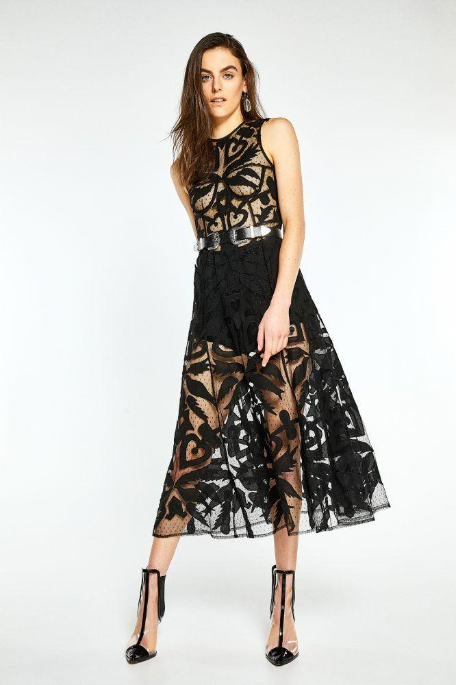 Vestidos largo bordado - SFERA