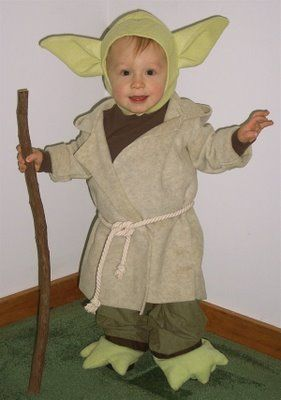 When I have a child he/she will be Yoda for Halloween at least once. No question.