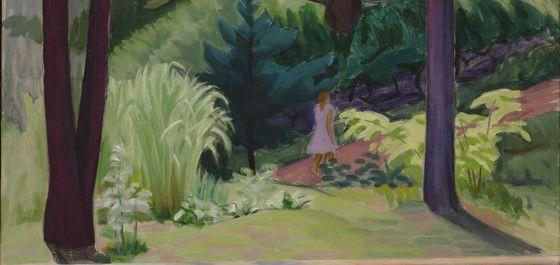 John Lyman, Promenade en montagne, 1952. Huile sur toile.