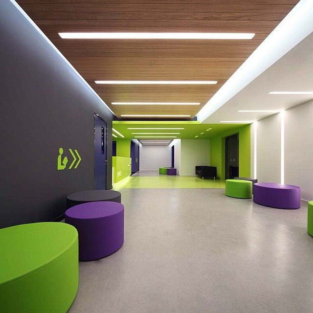 recepcao detalhes coloridos interior officeinterior ideasoffice lobby college