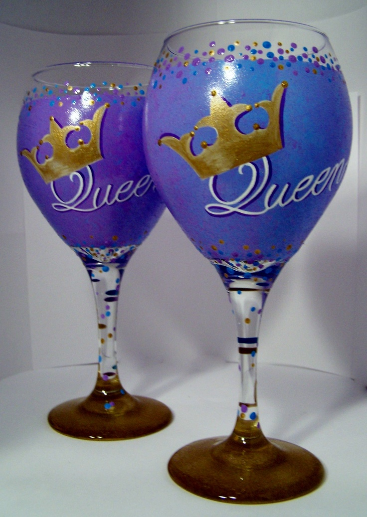 41 best painted wine glasses images on pinterest for Hand painted drinking glasses