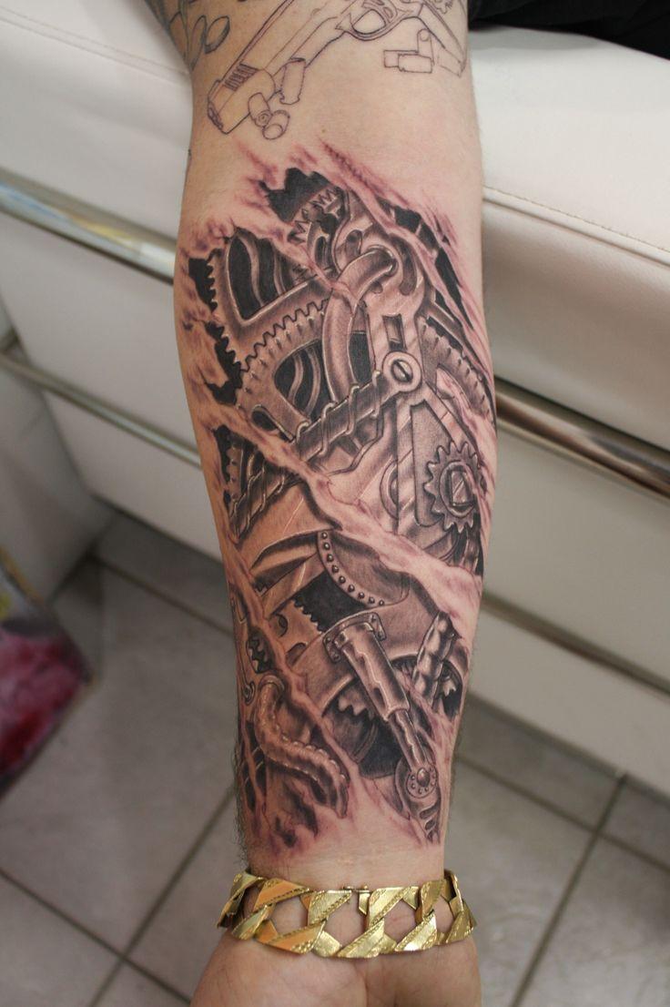 3d tattoos that will boggle your mind bizarbin com - Bio Mechanical Tattoo By Cye Delaney Www Facebook Com Sakredskinstudio