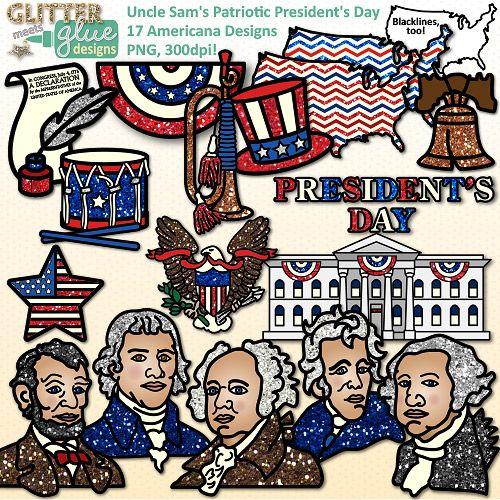 Uncle Sam's Patriotic President's Day Clipart #socialstudies #history #teacherspayteachers #tpt