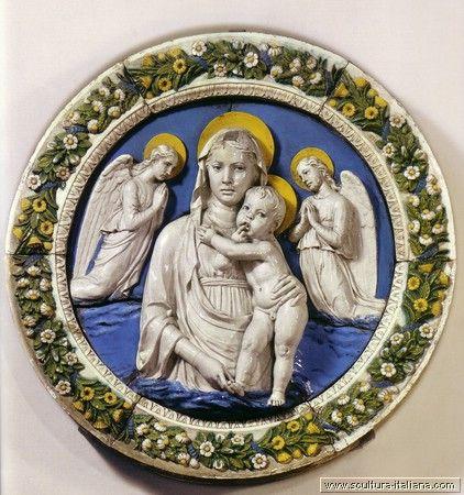 Luca Della Robbia - Madonna delle Cappuccine - 1475-80 - Firenze, Museo Nazionale del Bargello