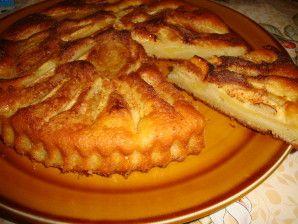 Voici un gâteau aux pomme très vite fait et très bon . La texture s'apparente à un mi-gâteau mi-flan. Voici les ingrédients : 120g de farine 90g de sucre 6 cuillères d'huile 6 cuillères de lait 2 oeufs 1 sachet de levure chimique 4 pommes cassonade, canelle...