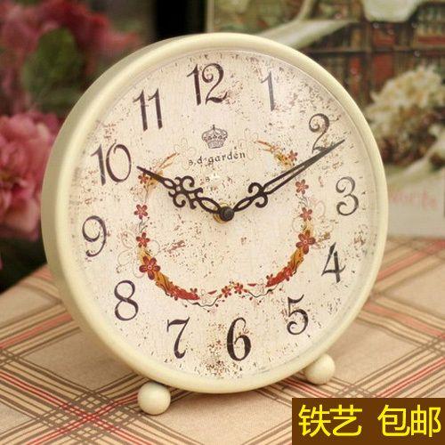 Большая гостиная в европейском стиле настольные часы творческий мода часы пастырской ретро настольные часы кованого железа колокол сб тихая cl