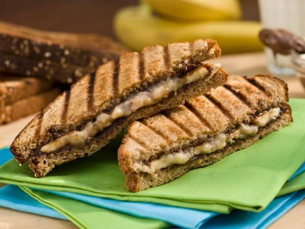 Bobby's Grilled Banana and Nutella PaniniDesserts Recipe, Panini Recipes, Sweets Treats, Food, Nutella Paninis, Bananas Recipe, Grilled Bananas, Paninis Recipe, Bananas Nutella