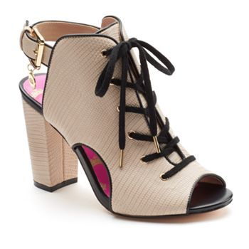 Juicy Couture Women's Lace-Up Peep-Toe High Heels >> the shoes I literally just got today lol