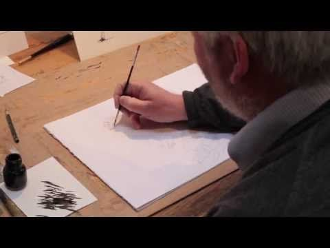 Chris Riddell illustrating Professor Steg from 'Fortunately, the Milk'. Not strictly a book trailer but it does strangely make you want read the book.