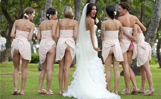 Awkward Bridesmaid Photos | Photo by: SheFinds.com | TheKnot.com