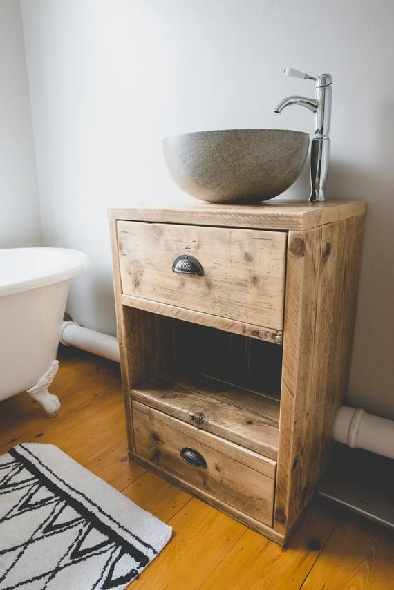 Vanity Unit From Reclaimed Scaffold Boards Vanity Units Wooden Vanity Unit Bathroom Vanity Units