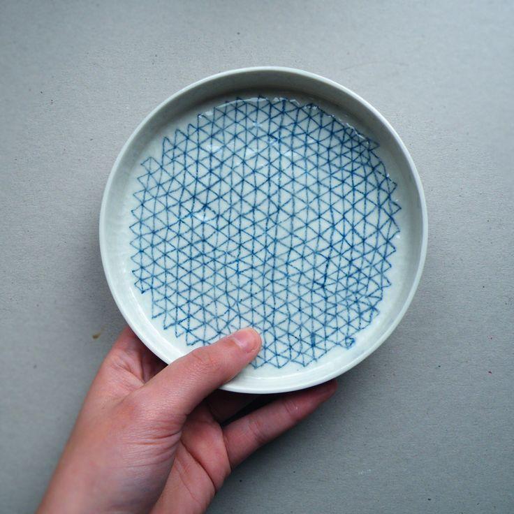 Petit plat [w] - porcelaine atelier Halo