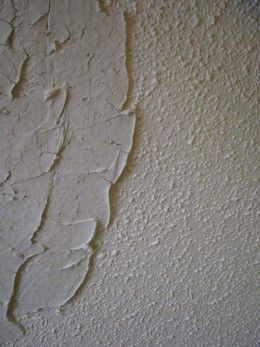 Don't want to scrape off that awful popcorn ceiling? Try these step-by-step instructions for covering it with plaster.