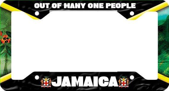 Customized Aluminum License Plate Jamaica Island Auto Tag