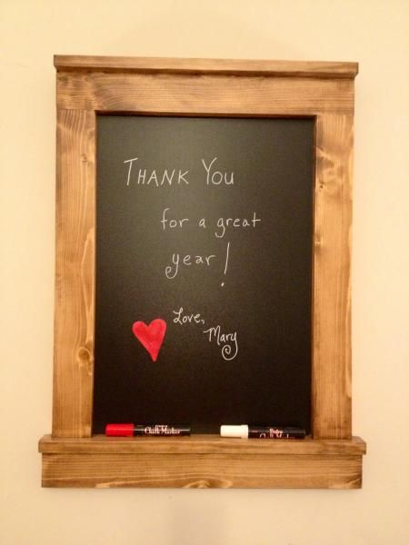 super cute framed chalkboard for a gift free plans at ana white