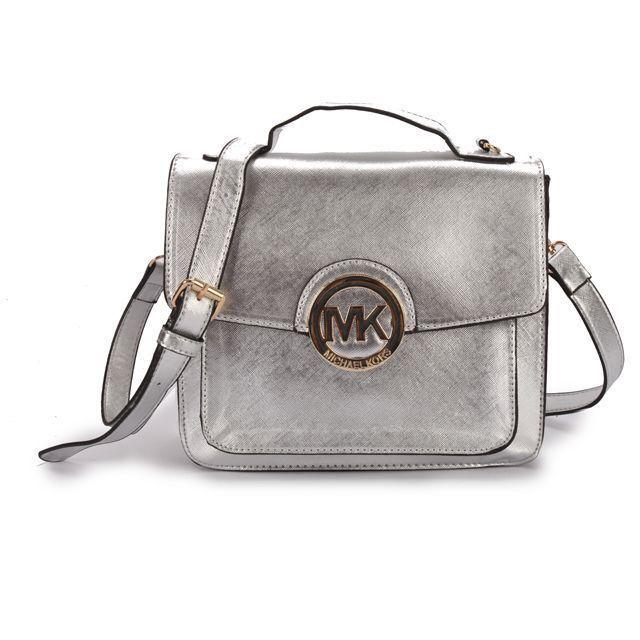 Michael Kors Big Logo Metallic Medium Silver Crossbody Bags In Our Online  Shop Keeps You More