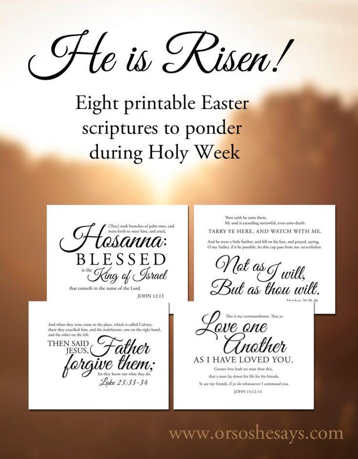 Eight Easter Scriptures to Ponder (she: Rachel)