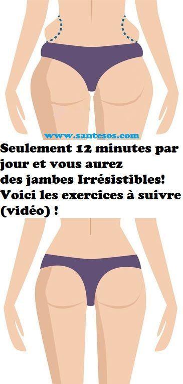 Seulement 12 minutes par jour et vous aurez des jambes Irrésistibles! Voici les exercices à suivre (vidéo) !Elkoufi