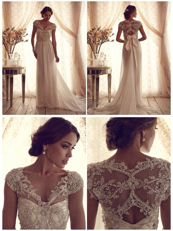 Vintage inspired 39 carolina 39 wedding gown from anna for Anna campbell vintage wedding dress