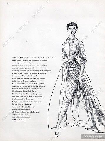 Balenciaga (Couture) 1950 Comtesse Maxime de la Falaise, Raymond Baumgartner