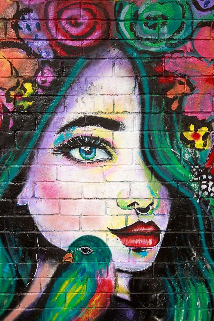 Mimby Jones Robinson street art 2017. Melbourne street art, street art Melbourne, Fitzroy street art.