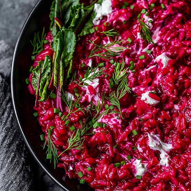 Ummm... You NEED to make this Beet Risotto with Goat Cheese for Valentines Day! Pair it with a sparkling Rosé or Beaujolais to really win at dinner in. . . #lifeandthyme #beautifulcuisines #feedfeed #myopenkitchen #storyofmytable #foodblogs #bhgfood #inseasonnow #platedpics #mymonthofsundays #gatheredtable #myopenkitchen #goopmake #scrumptiouskitchen #foodie_features #fellowmag #buzzfeedfood #gatheringslikethese #foodstyling #foodandwine #MarthaFood #tastingtable #valentinesday2018…