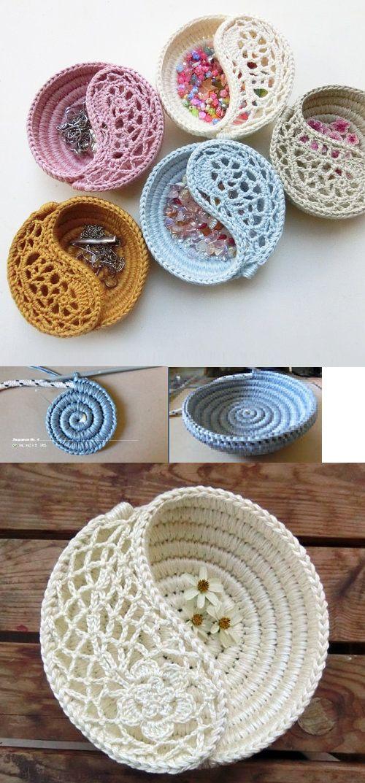 crochet jewel box
