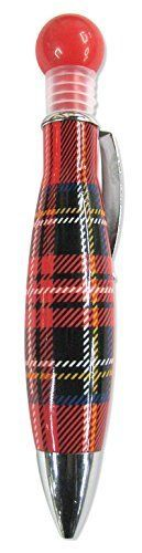 Scottish Gifts - Bubble Chunky Pen with Royal Stewart Tartan Design by Must Have…