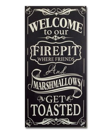 Fire Pit Wall Sign