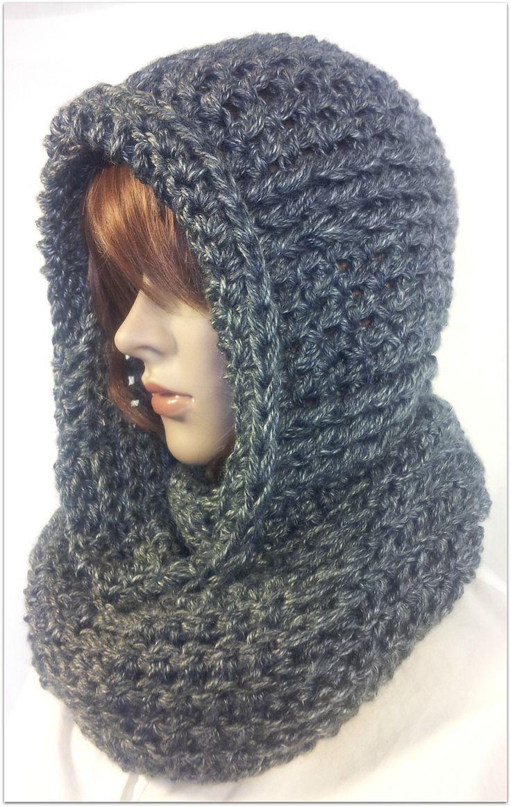 45 best Knit Hooded Scarves images on Pinterest | Knit ...