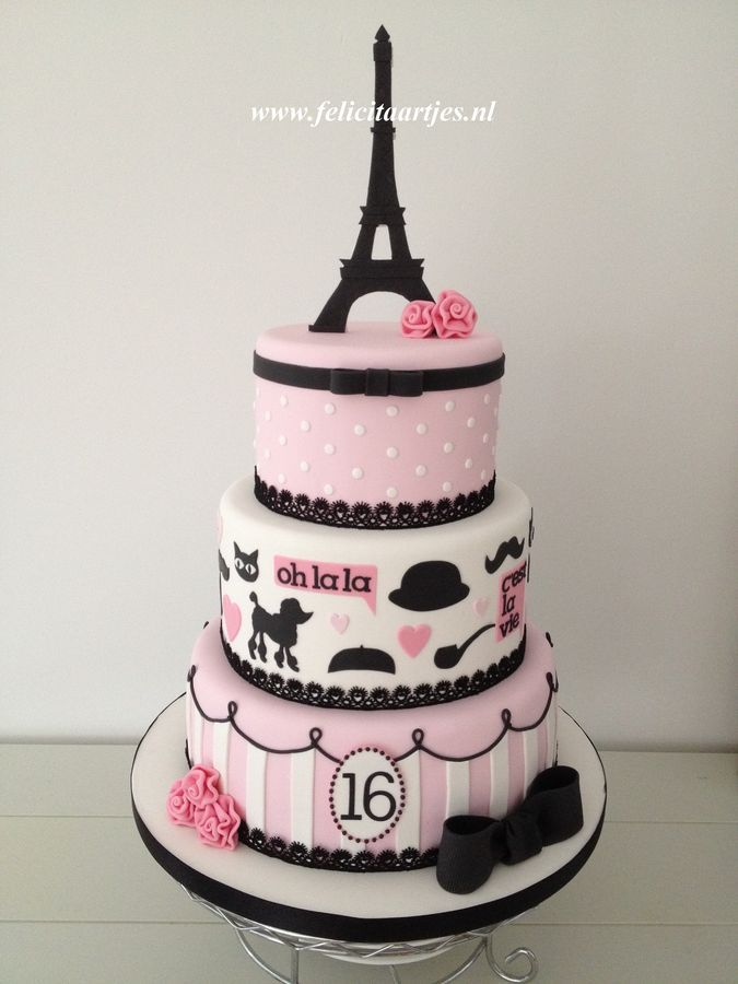 Sweet 16 cake for my daughter's birthday.