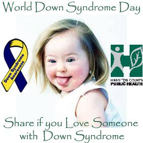 It's World Down Syndrome Day #WDSD - REPIN If you love someone with Down Syndrome.