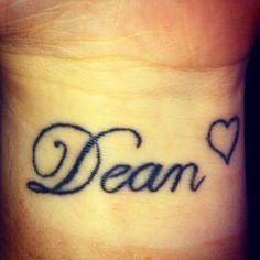 my own tattoo boyfriends name.