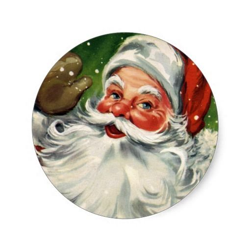 stickers vintage christmas