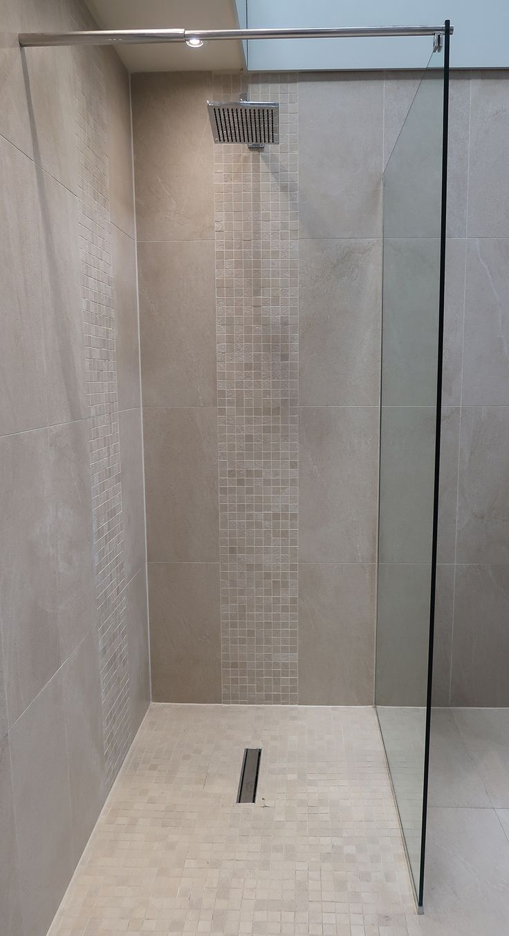 Baron Beige Wall And Floor Tiles Paired With The Beige Anti Slip Mosaic Creates This Stunning Walk In Sho Small Bathroom Mosaic Bathroom Tile Shower Floor Tile