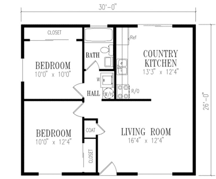 372 best house plans images on pinterest country homes for Guest house floor plans 2 bedroom