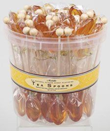 50 Individually Wrapped Clover Honey Flavored Tea Spoons - Flavored Tea Spoons - Roses And Teacups