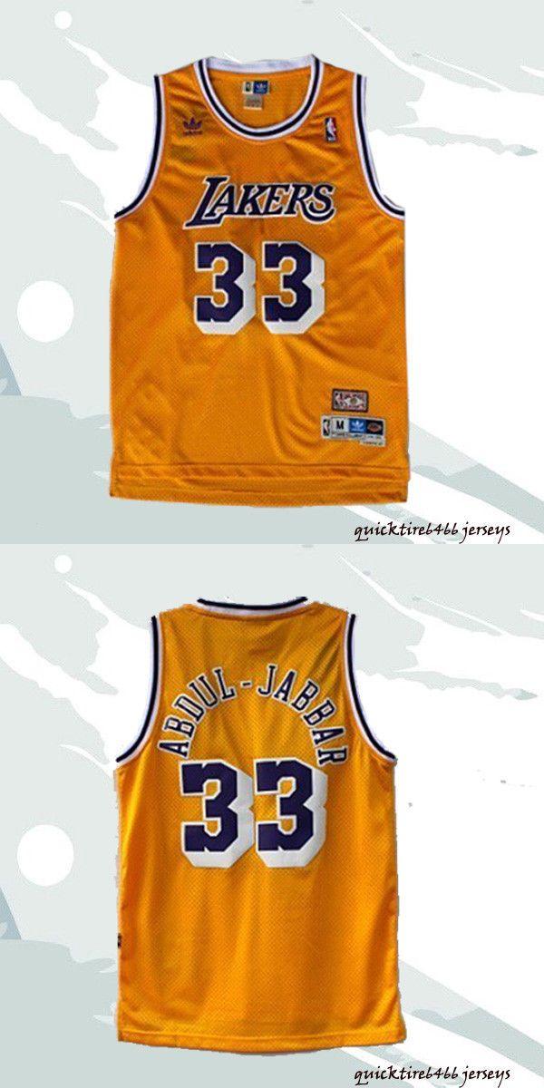 e61385584 Clothing 158964  Kareem Abdul-Jabbar Yellow  33 Los Angeles Lakers  Basketball Jersey S-2Xl -  BUY IT NOW ONLY   25.99 on  eBay  clothing   kareem  yellow ...