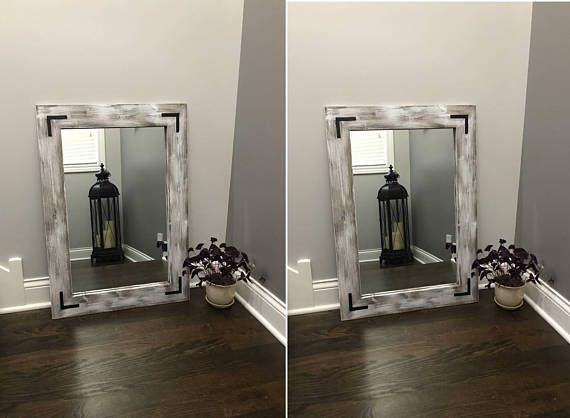 Cottage Mirrors, Whitewash Mirror Set, Double Mirrors, Floor, Bathroom, Double  Vanity