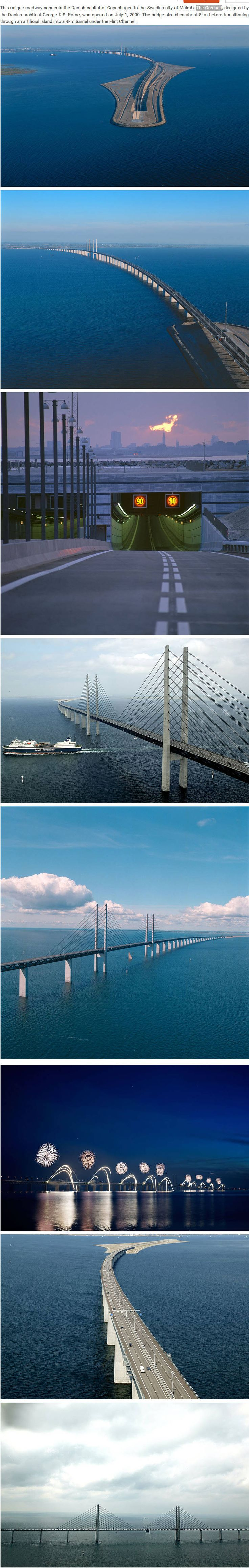 The Øresund connects Copenhagen to Malmo