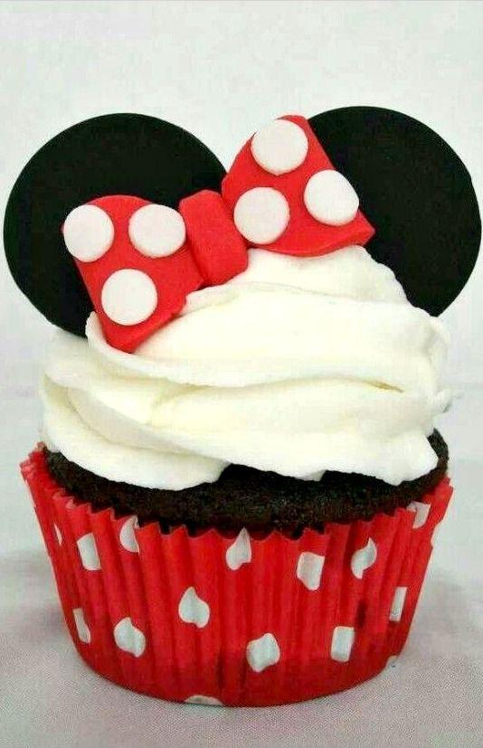 Cupcake de Minnie Mouse