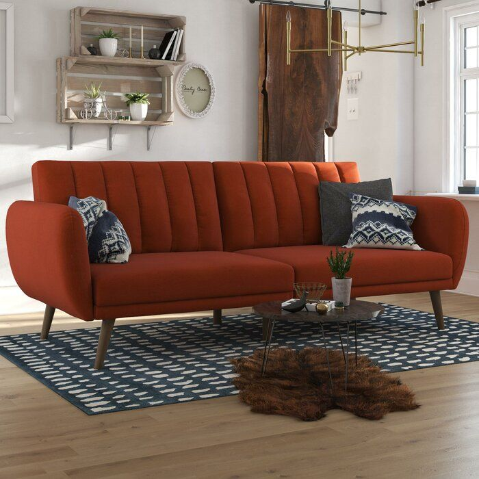 2eb7582d825a832f519185b6bfd143bd - Better Homes & Gardens Porter Fabric Tufted Futon Rust Orange