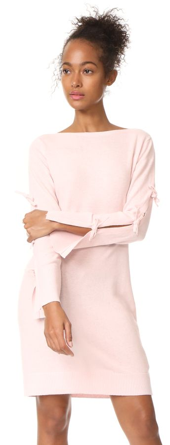 Pink tie sleeve Club Monaco Nahille Sweater Dress