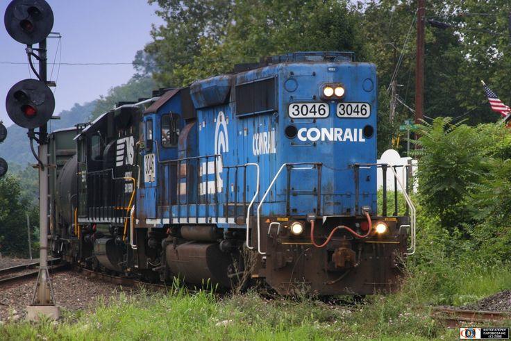 Тепловоз SD40-2 № 3046 компании =Norfolk Southern= (бывшей =Conrail=), Филипсбург, США