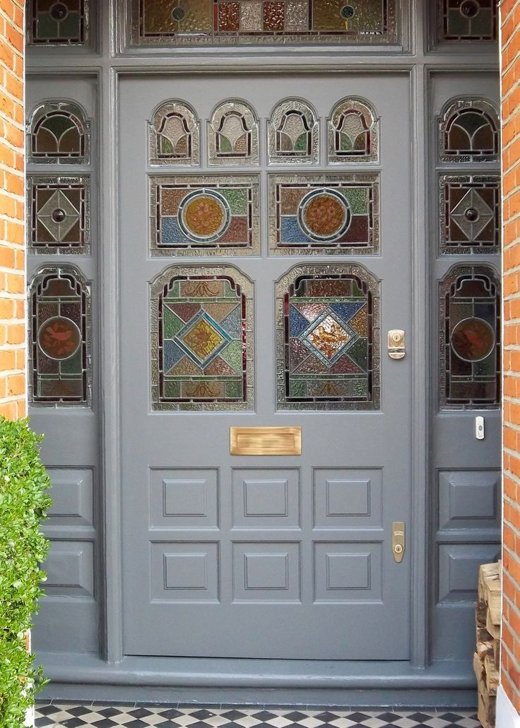 Victorian Door With Real Leaded Glass(6)   Victorian, Edwardian ...
