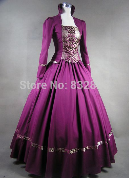 Roxo gótico vitoriano vestido de baile vestido de Steampunk Cosplay venda em Vestidos de Roupas e Acessórios no AliExpress.com | Alibaba Group