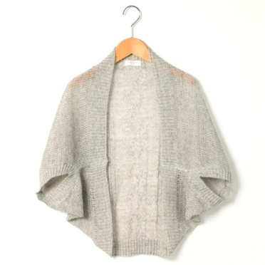 linen shrug-a rectangle fastened in two places