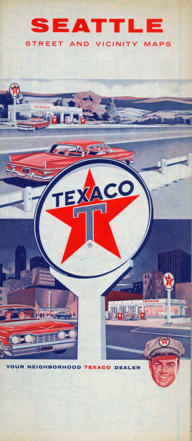 Texaco map of Seattle, 1962