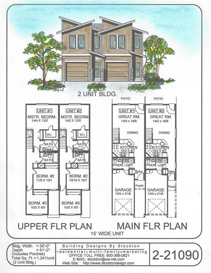 10 best images about duplex on pinterest house design for Duplex plans canada
