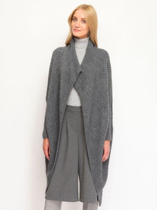 Sweter damski szary  - sweter długi rękaw - TOP SECRET. SSW1780 Świetna jakość, rewelacyjna cena, modny krój. Idealnie podkreśli atuty Twojej figury. Obejrzyj też inne swetry tej marki.
